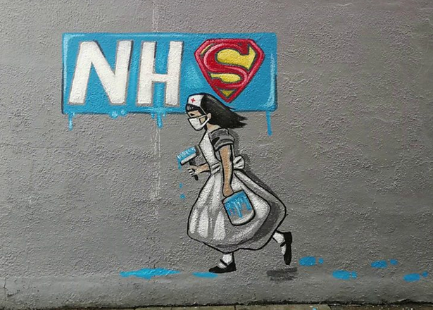 Street mural by artist Rachel List