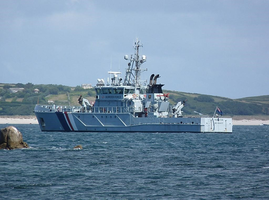 On our own? A Border Force boat patrols British waters.  Border Control by Hornbeam Arts is licensed under CC BY-NC 2.0