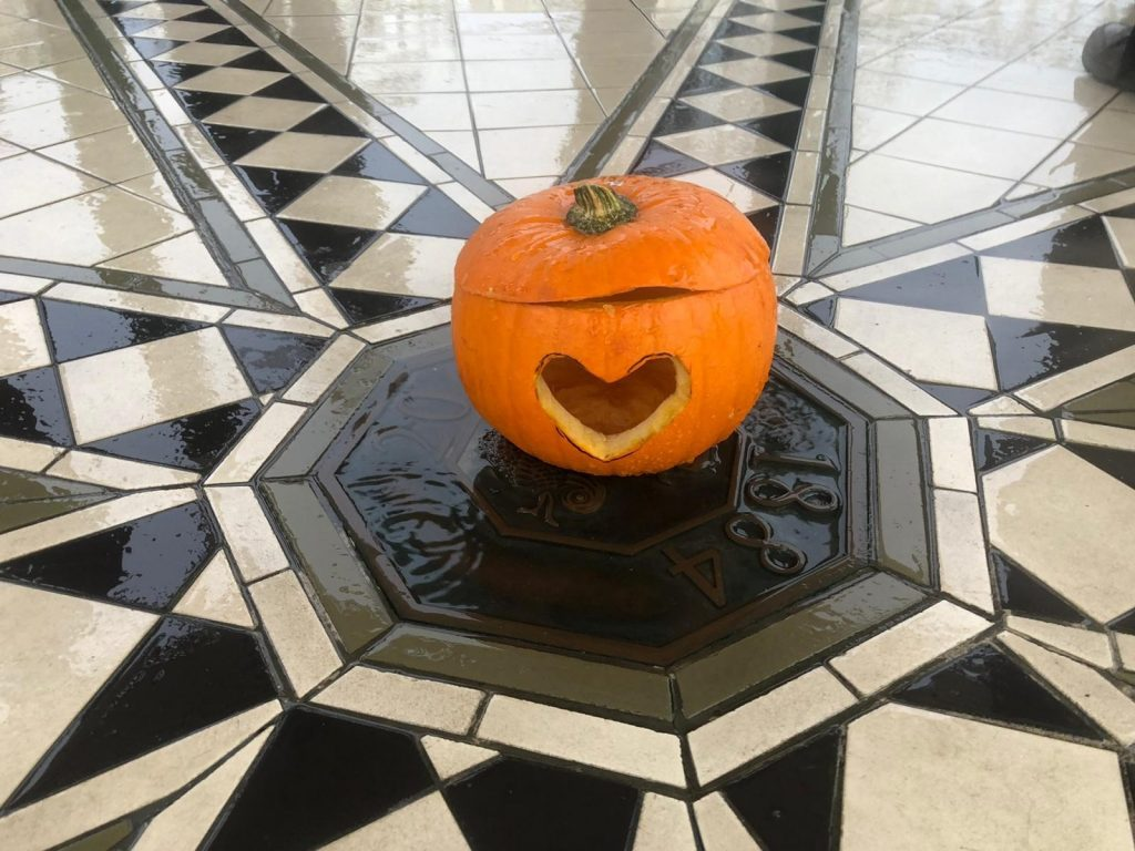 Pumpkin used at the protest in Brighton Photo credit: Josie Good