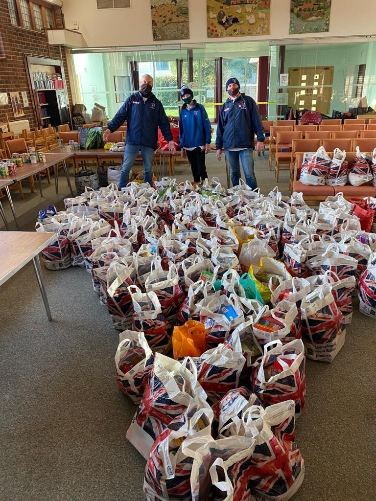 Donations to the Fitzjohn's food bank – just some of contributions on the day. Photo credit: Nigel French