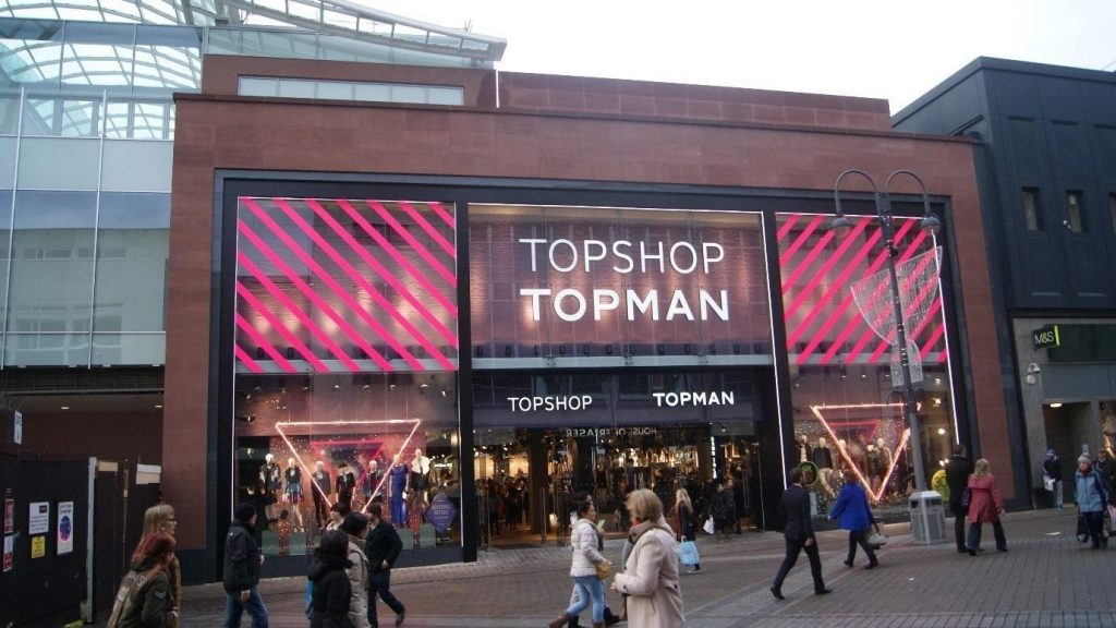 Topshop on the high street. Photo credit: Wikipedia Commons Creative licence