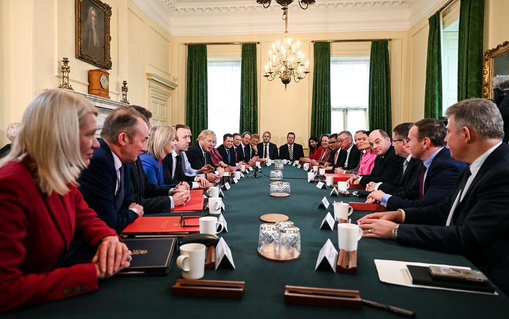 Boris Johnson's Cabinet meeting. Photo credit: UK Prime Minister licensed under CC BY-NC-ND 2.0