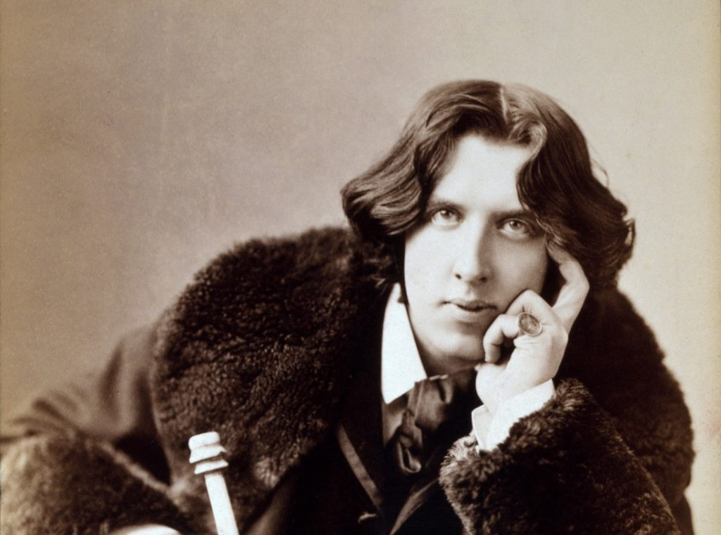 Black and white photo of the young Oscar Wilde