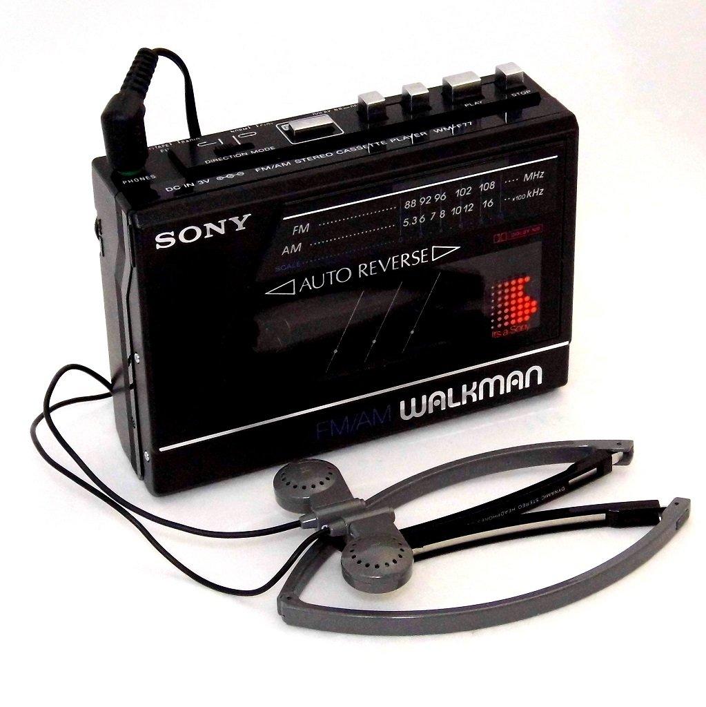 Photo of a Sony Walkman from around 1986.