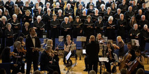 Photo of a Heathfield Choral Society concert from before Covid