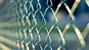 Close-up of chainlink fence.