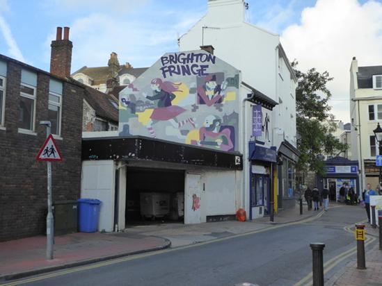 Mural in Brighton, titled 'Brighton Fringe'