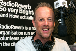 Photo of DJ Pete Jones at Radio Reverb in Brighton