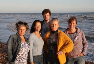 Photo of some of the South Coast Sirens, a group of concerned swimmers who are combatting pollution in the Sussex sea