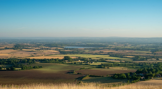 The view from Wilmington Hill over the Low Weald countryside that would be devastated by the proposed new A27 motorway