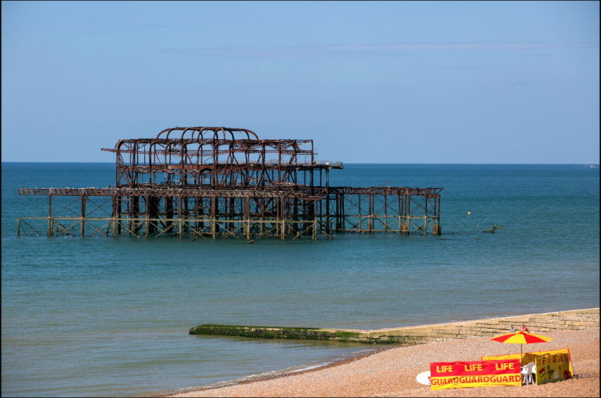A photo of Brighton's dilapidated West Pier by DJ Pete Jones, who's also a professional photographer