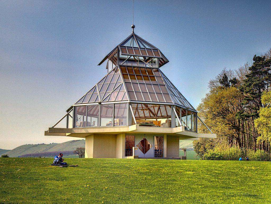 A futuristic eco pavillion in Wiltshire