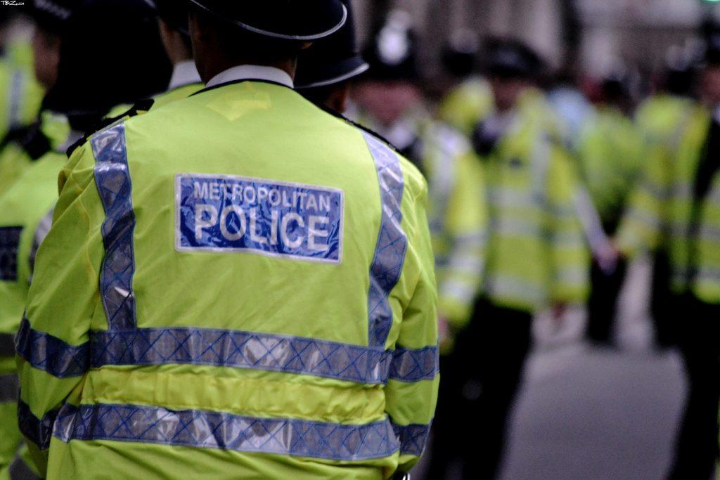Metropolitan Police Officers in high vis jackets